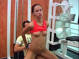 Victoria gets fucked at the fitness center