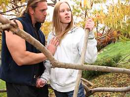 Brooke seduces the gardener