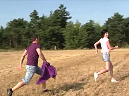 Barbara banged in a big field