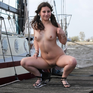 Cathy gets naked in public