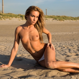 Hot babe Verunka naked in Wijk aan Zee