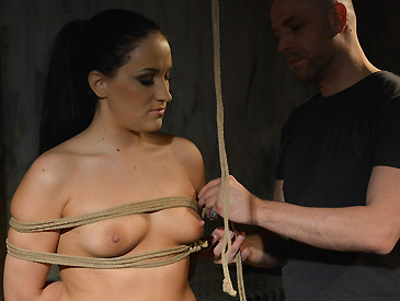 image Lola wan chairtied cleavegagged stripped vibed