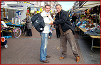 Meeting up with Bob on the Albert Cuyp market