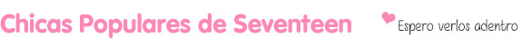 Popular seventeen girls