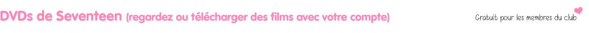 Seventeen dvds