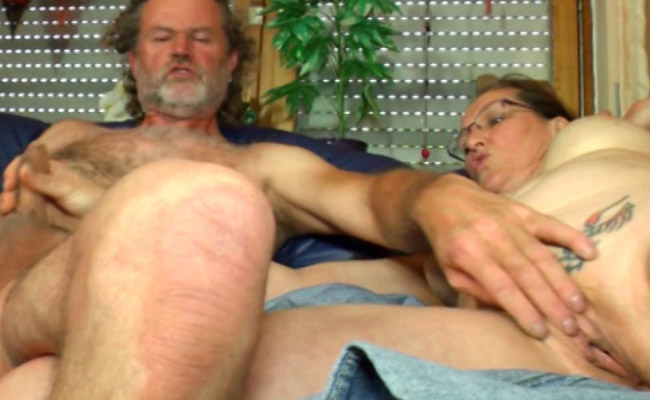 2 guys get their cocks sucked by 1 hispanic whore sitting in a chair 5