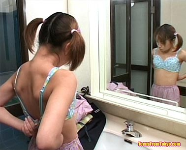 Teen getting undressed