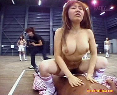 Busty Japanese girl riding