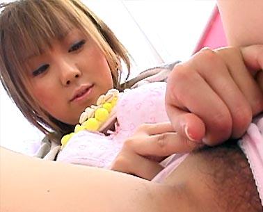 Petite Japanese teen Sakurano showing pussy