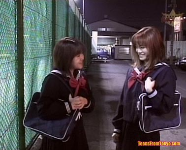Goodlooking teens of Tokyo by night