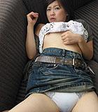 Haruka Ando wearing white panties