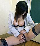 Marin Asaoka masturbates hairy pussy